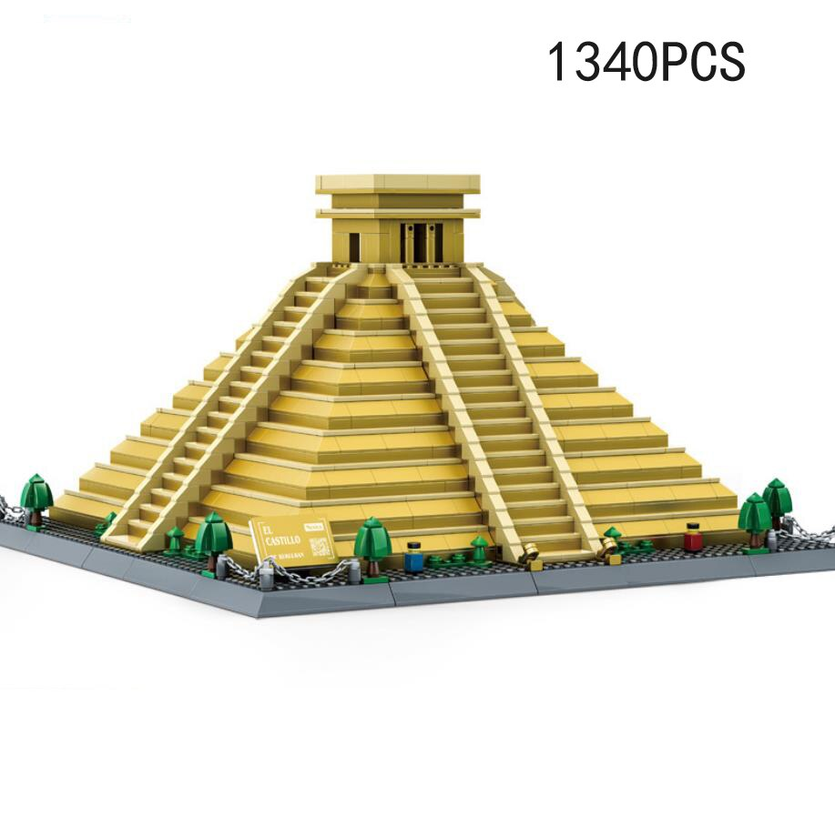 mundo famoso arquitetura mexico maya ruinas piramide moc bloco de construcao modelo