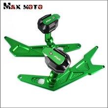 Neue Für KAWASAKI NINJA250 NINJA300 NINJA 250 300 2013-2016 Motorrad CNC Rahmen Slider Crash Pad Fallen Protector Schutz