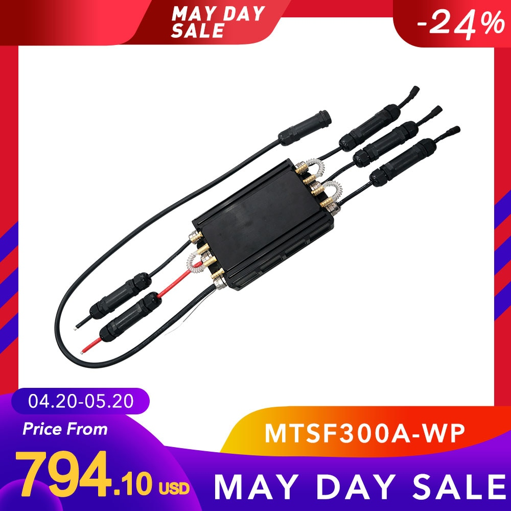 In Stock! Maytech MTSF300A-WP Fully Waterproof Electric Speed Controller 300A ESC for Electric Surfboard/Efoil/Jetski
