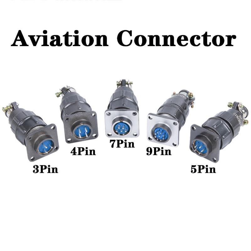 CX16 جولة موصل أنثى التوصيل 3Pin 4Pin 5Pin 7Pin 9Pin الطيران كابل توصيل موصل ذكر المقبس للمعدات الصناعية