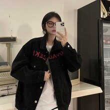 Figure Design 2021 Ladies autumn jacket New Women's Korean-Style Casual Loose All-Match Embroidered