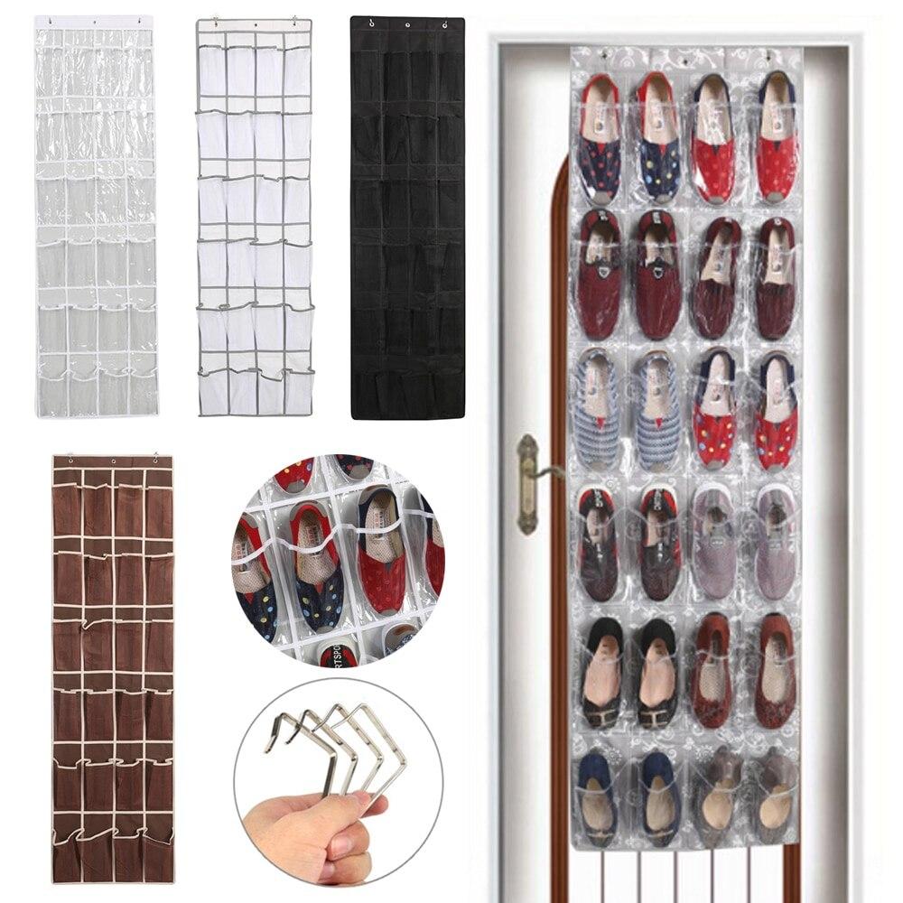 12/24 обувь с карманами вешалка Нетканое Полотно двери висит обувь органайзер для хранения обуви стойки Экономия пространства стены сумка для хранения декор