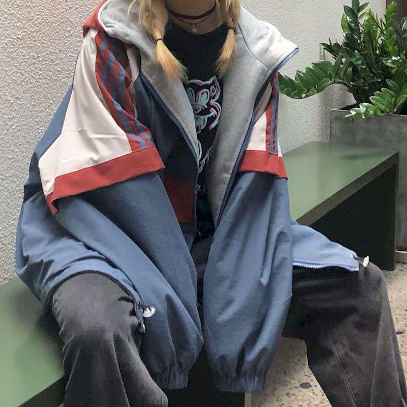 السترات النسائية ارتداء كلا الجانبين في الربيع والخريف 2020 جديد الكورية فضفاضة سترة المرأة رقيقة كل مباراة اليابانية bf الرياح سترة