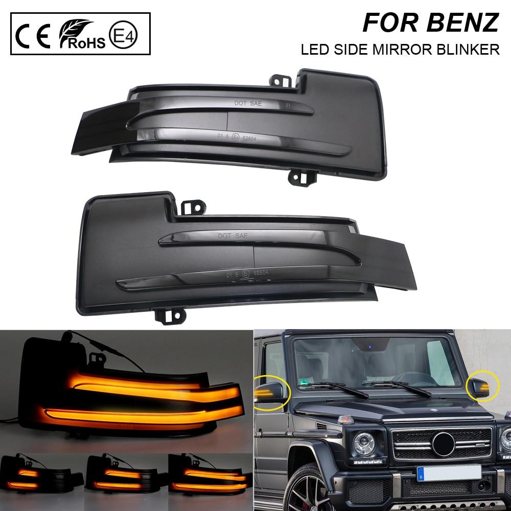 2Pcs LED Dynamic Mirror Blinker Light Turn Signal Lamp For Mercedes-Benz G M R-Class SUV W463 GL X164 X166 GLS X166 W166 W251