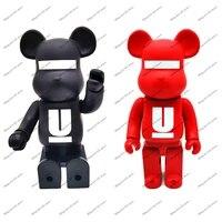 400 28cm hot sale street art bearbricks red pattern brand pvc action kaw figure toy collection model decoration japan anime