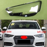 For Audi A4 A4L 2016 2017 2018 2019 Headlamp Transparent Cover Headlight Shell Lamp Shade Lampshade Headlight Lens Xenon Led