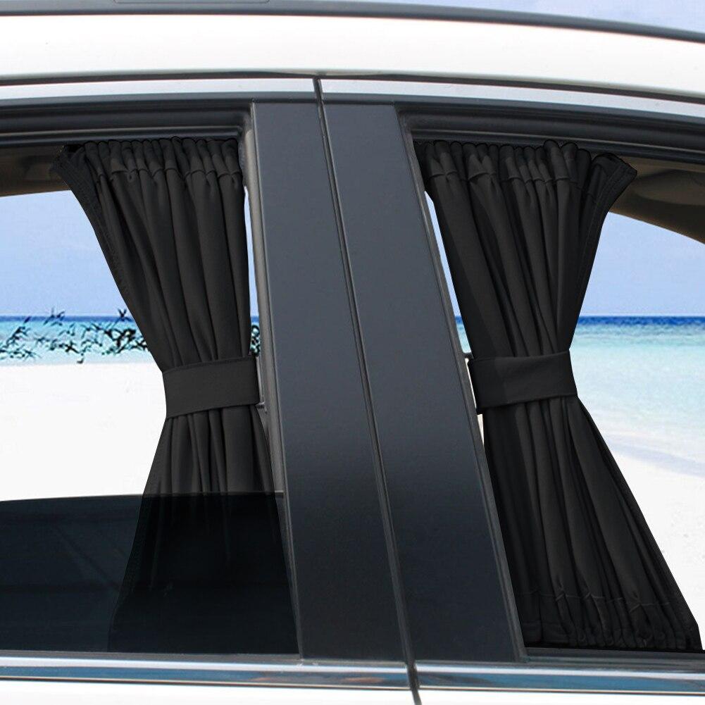 2 pcs 50S Car Anti-UV Side Window Sunshades Car Window Shade Curtain Auto Rear Windshield Sun Block For Most Of Cars SUV