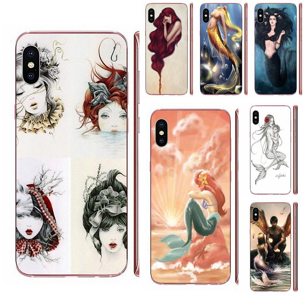 Para LG G7 ThinQ G5 G6 K50 Q60 K40 K8 Q7 2018 2017 V40 V30 V20 V10 TPU caso accesorios tatuaje único Arielthe poco sirena
