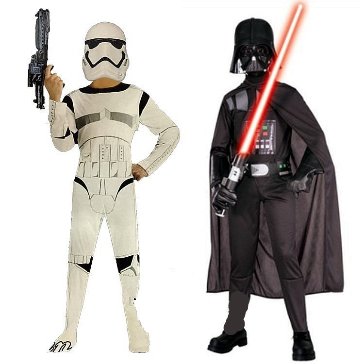 Ropa de Carnaval para niños, Storm Trooper de Star Wars, Darth Vader,...
