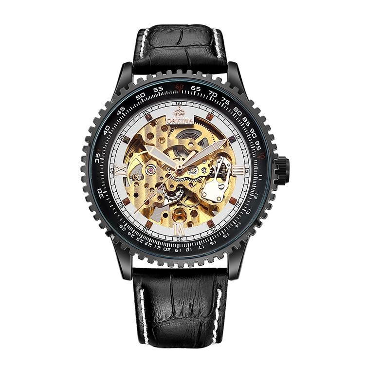 Мужские механические часы, автоматические Модные механические часы с отверстиями для мужчин