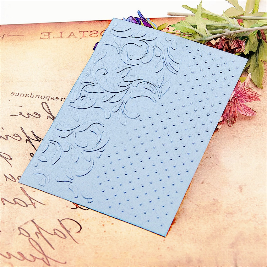 12.7x17.8cm Leaves dot wreath Embossing folders Plastic Scrapbooking DIY Template Fondant Cake Photo Album Card Making