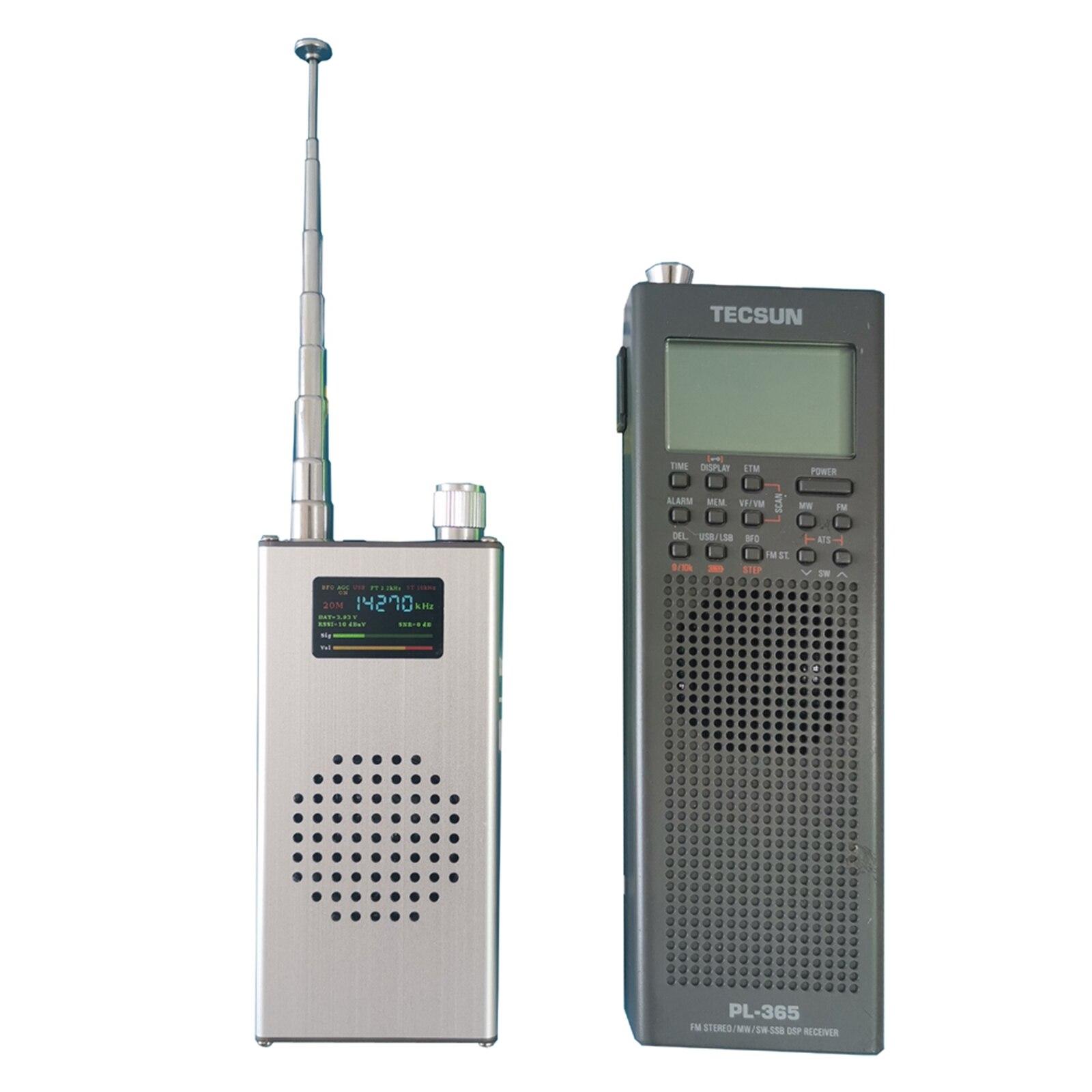 Полнодиапазонный портативный Радиоприемник ATS100 si4732 150K-30 МГц 64M-108 МГц FM RDS AM LW MW SW SSB с кнутой антенной
