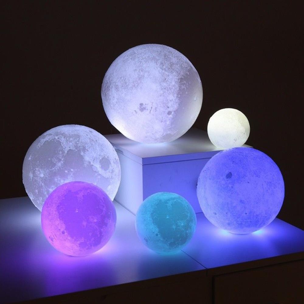 Desk Lamp Night Light LED Moon Light Moon Lamp Personality Creative Perfect Gift Home Decor Earth Brightness 3D Print Battery