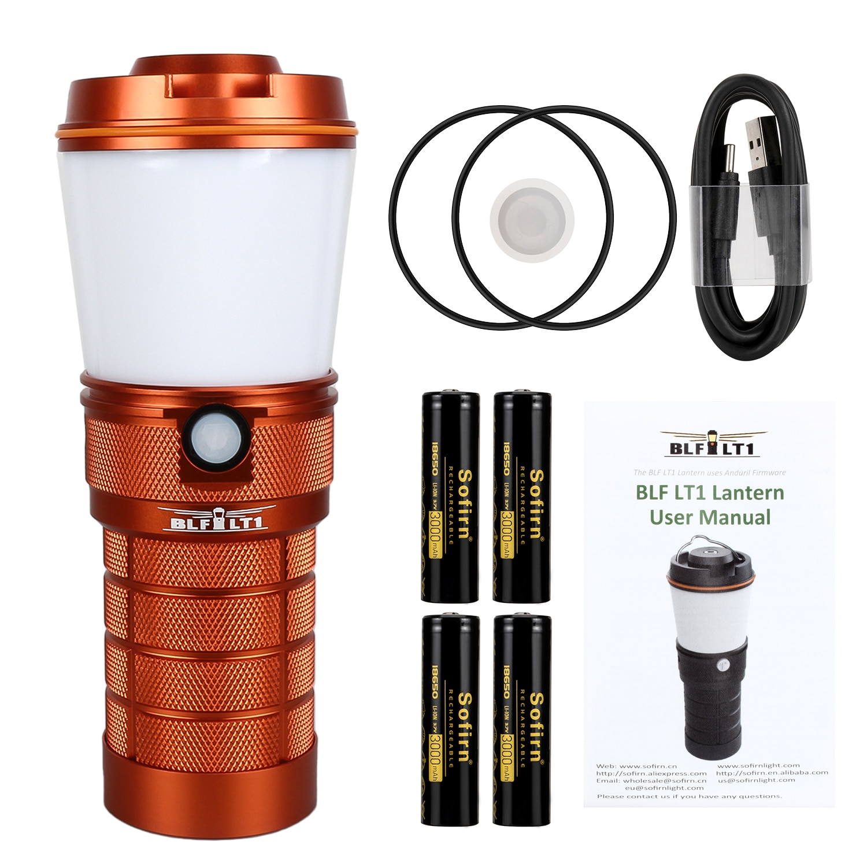 sofirn blf lt1 led luz de acampamento super brilhante recarregavel lanterna acampamento