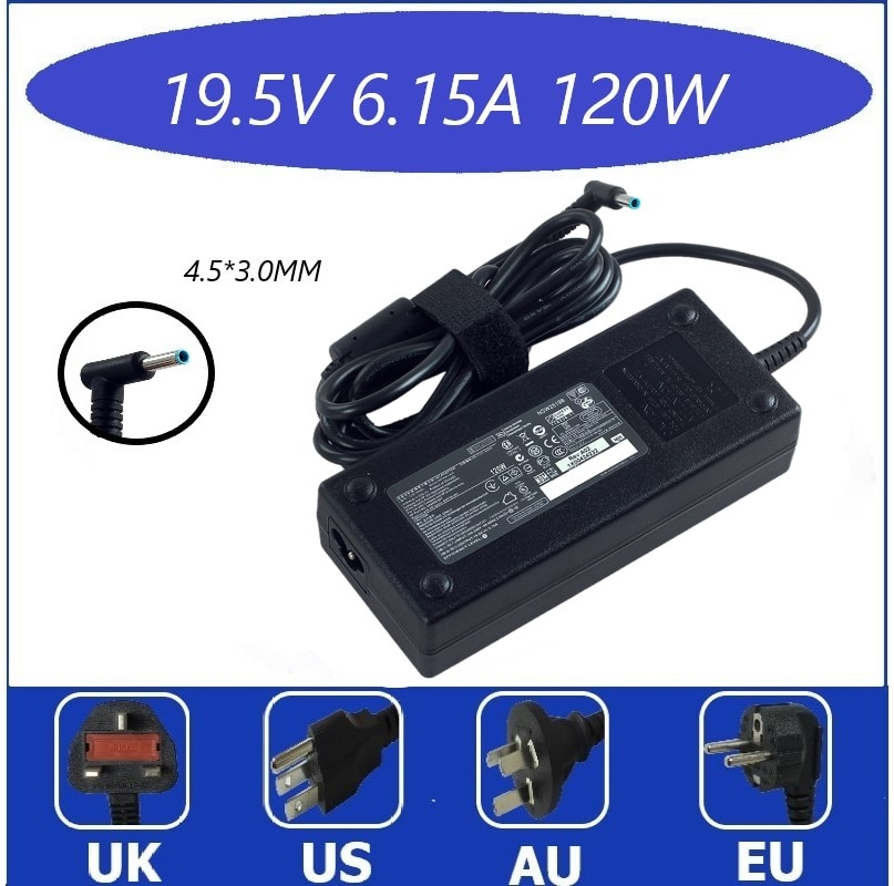120W 19.5V 6.15A 4.5*3.0mm Laptop Adapter FOR HP ENVY 15 17 15-J013TX J015T 15-AX033 HSTNN-CA25 Char