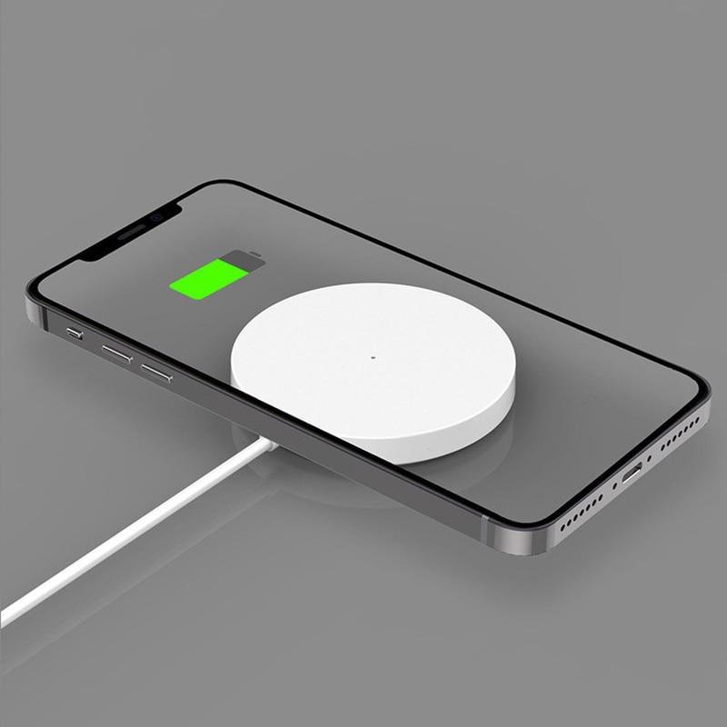 7.5w carga rápida carregador sem fio para iphone 12/12 mini/12 pro/12 pro max magnética adsorção magsafe carga sem fio almofada