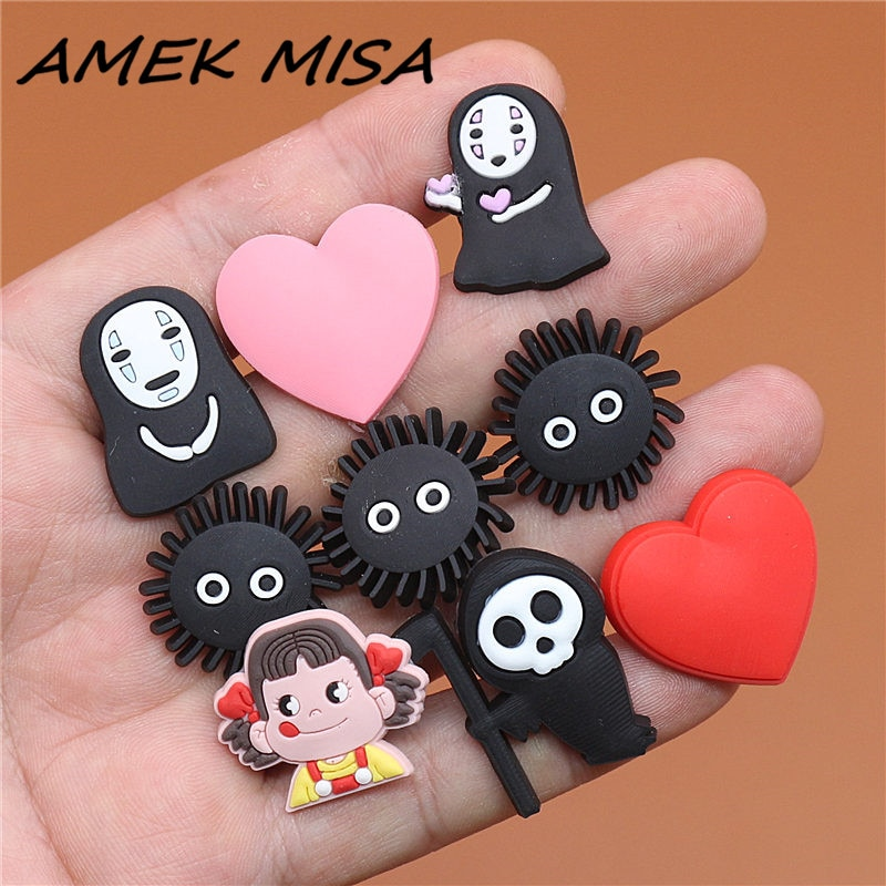 Novel Single Sale Spirited&Away Shoe Charms Accessories Cute No Face man Garden Shoe Decoration for