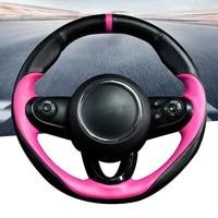 car steering wheel cover protective for bmw mini cooper f54 f55 f56 f57 f60 countryman one leather interior accessories