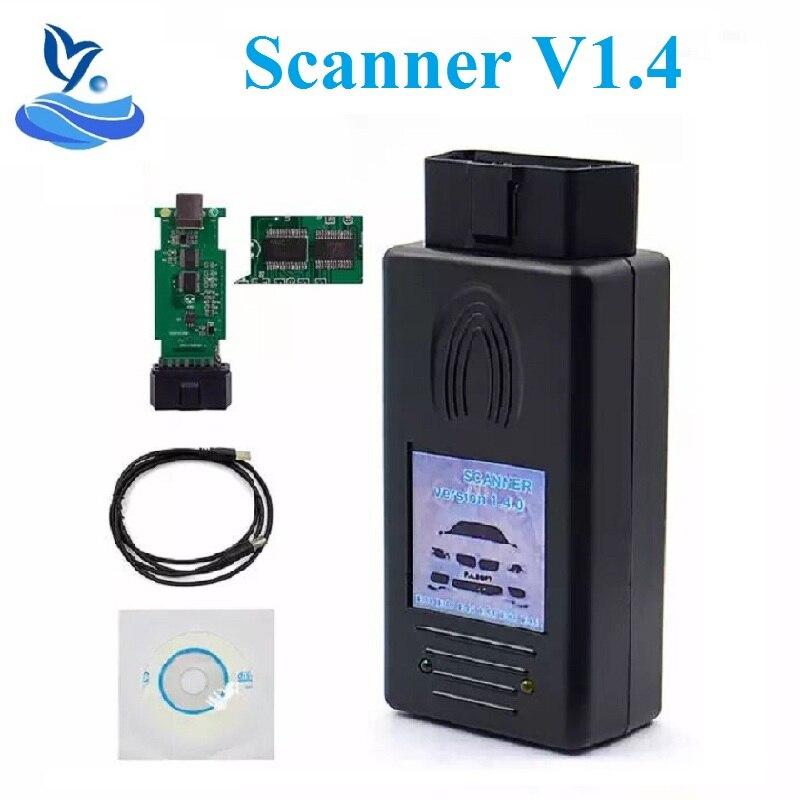Para bmwscanner 1.4.0 ftdi chip obd2 interface de diagnóstico usb multi-função forbmw 1.4 scanner desbloquear versão 1.4