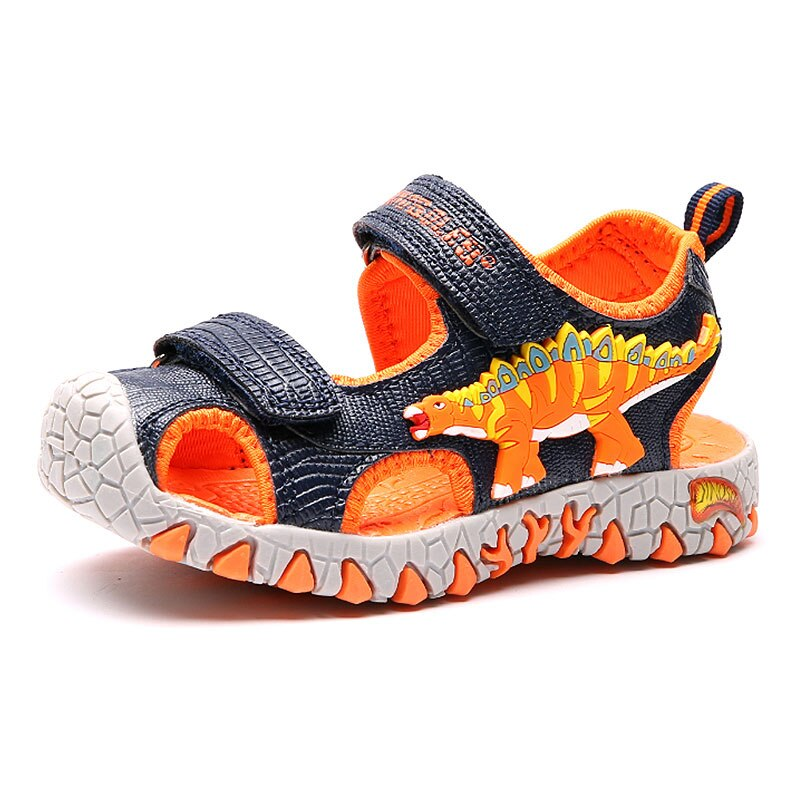 Kids Sandals Boys Dinosaur Closed Toe Cut-Outs 2020 Summer New Beach Shoes  Children Beach Sandals