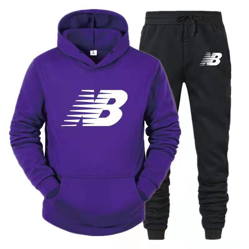 Новинка 2021, повседневные мужские толстовки NB, спортивный костюм, толстовка, костюм, толстовка + спортивные штаны, мужской пуловер для бега
