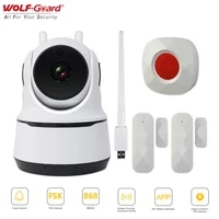 Wolf-Guard     camera video Wifi intelligente  1080P HD  868MHz  interphone vocal  controle via application  Mode sonnette  systeme de securite domestique anti-cambriolage