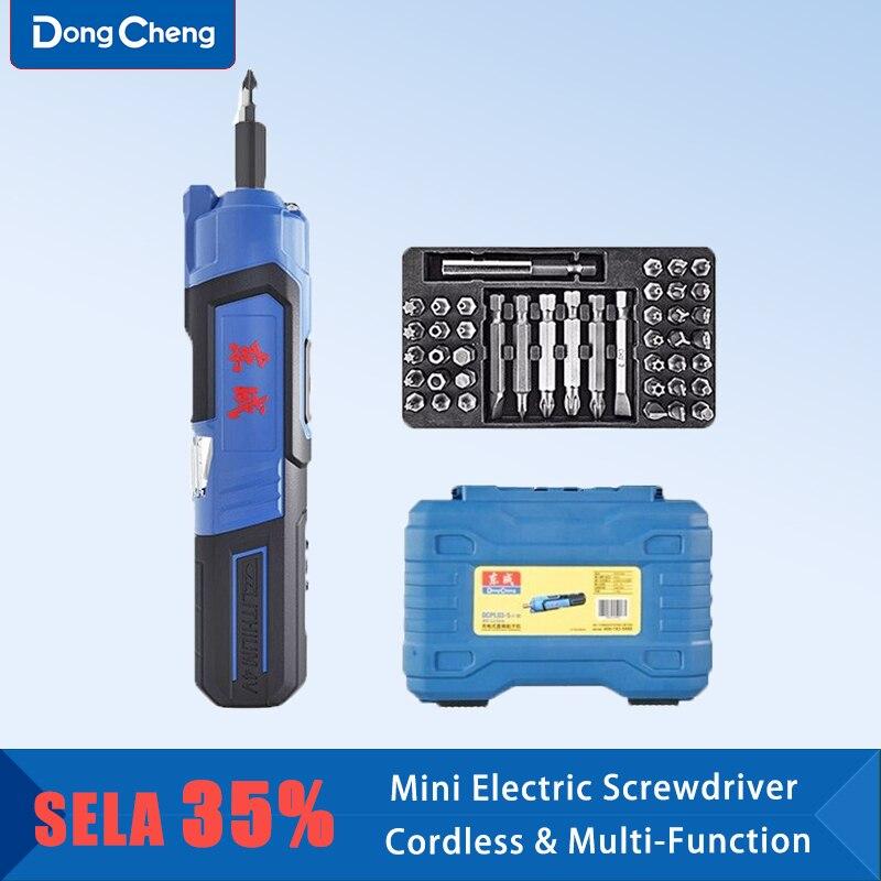 Dongcheng DCPL03-5E مفك كهربائي ليثيوم الحفر الكهربائية القابلة لإعادة الشحن الصغيرة المنزلية الكهربائية الحفر اليد متعددة الوظائف