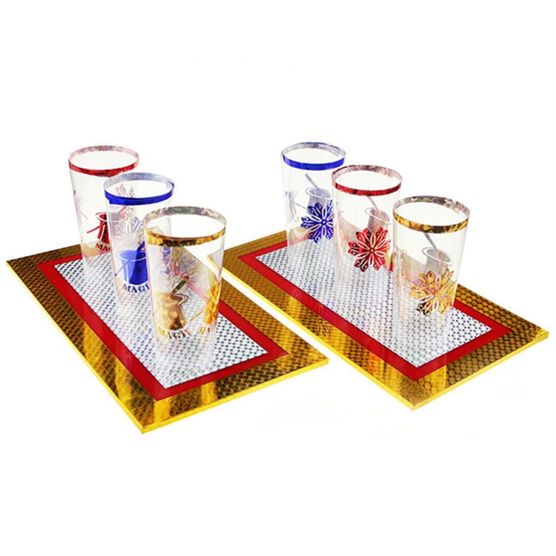 Seis copos para fora a partir de duas placas mágica truque copos aparecendo estágio truques de magia placa de truque prop para crianças crianças educação presente