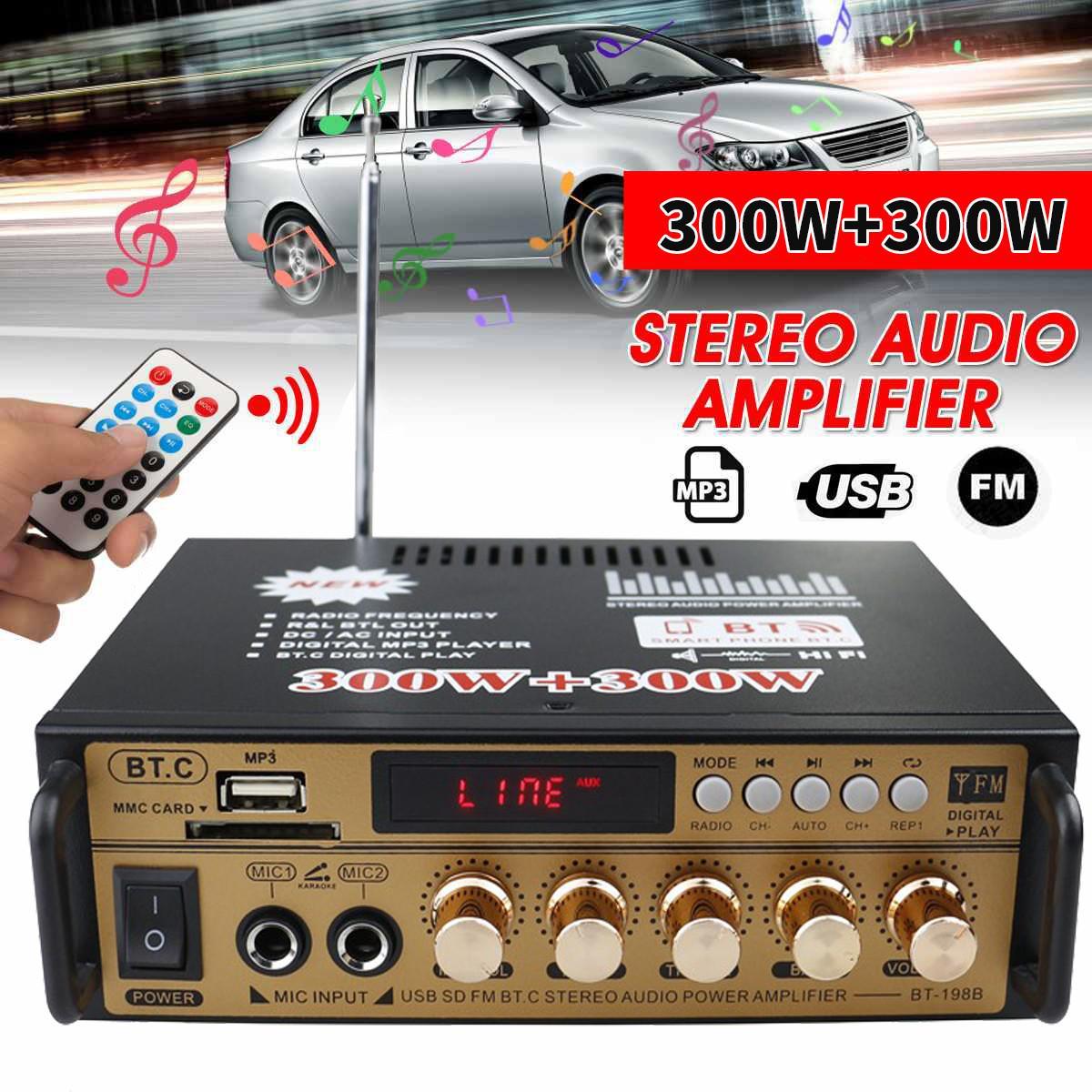 CLAITE-Amplificador de Audio estéreo de alta fidelidad para coche, dispositivo de 2...
