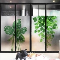 green plants window glass privacy films diy static cling pvc waterproof privacy protection sticker frosted stained glass sticker