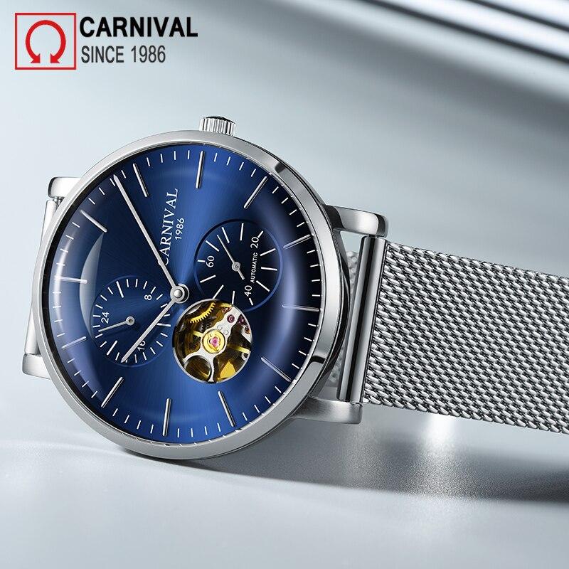 Carnival Brand Fashion Watch Man Luxury Mechanical Wristwatch Waterproof Casual Automatic Hollow Sapphire 2021 Relogio Masculino enlarge