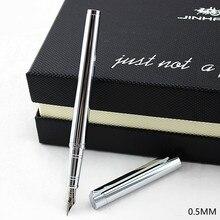 Jinhao 126 stylo plume 0.5mm plume caligraphie stylo métal stylo haute qualité encre stylos pour écrire métal étudiant fournitures scolaires