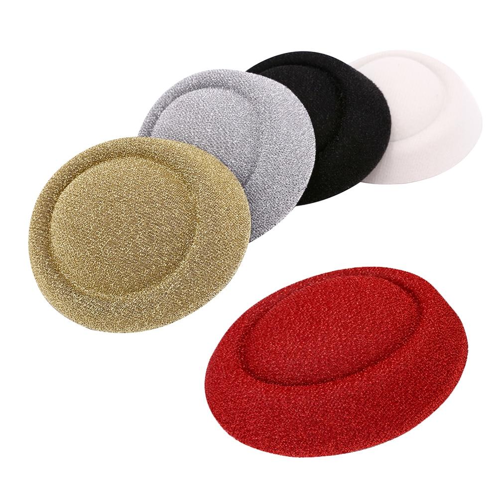 13.5*12.5*3 CENTÍMETROS brilhando mini top hats chapéus glitter base de fascinator chapelaria headwear para festa da igreja do casamento nupcial 1 pçs/lote