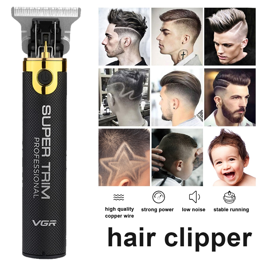2020 New Bald Head Hair Cutting Machine Professional Hair Trimmer For Men USB Recharge Hair Clipper Barber Beard Trimmer Shaver enlarge