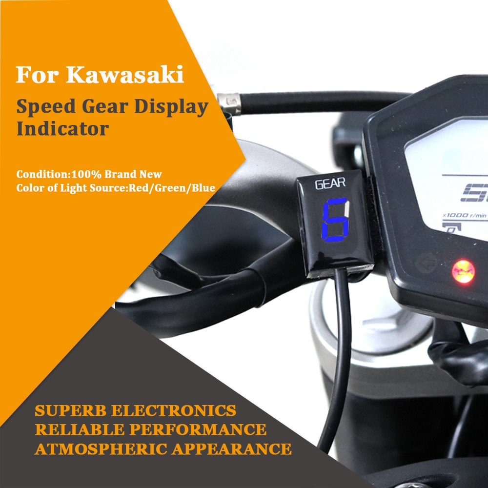 Indicador de visualización de engranajes de velocidad de montaje directo de la motocicleta de 1-6 piezas para Kawasaki ER6N Z1000SX Ninja300 Z1000 Z800 Z750 versys 650 Z400