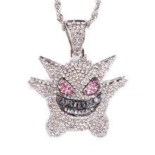 Mode Gengar pendentif collier classique hommes femmes Hip Hop/Rock or argent couleur breloques chaîne collier bijoux pour hommes cadeaux