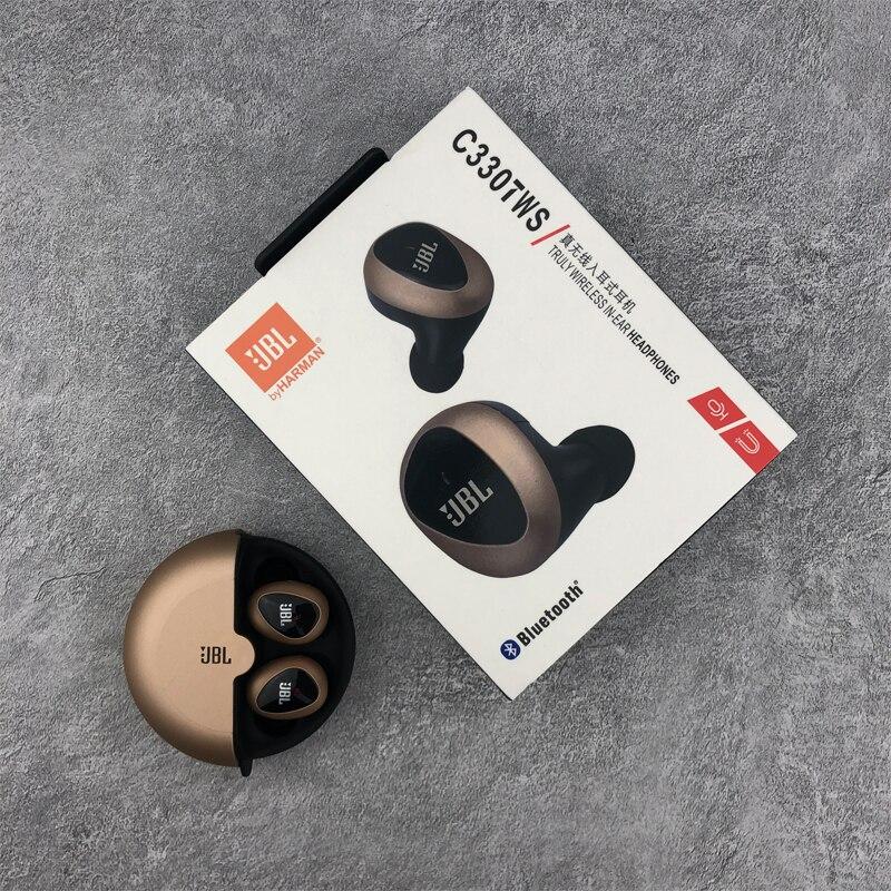 Jbl c330tws verdadeiro fones de ouvido bluetooth estéreo sem fio c330 tws baixo fone com microfone caso carregamento