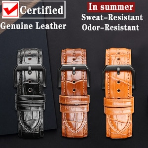 MAIKES Quick Release Watchband Handmade Genuine Leather Watch Strap Band for Huawei TISSOT Samsung Galaxy Smart Watch Wristband