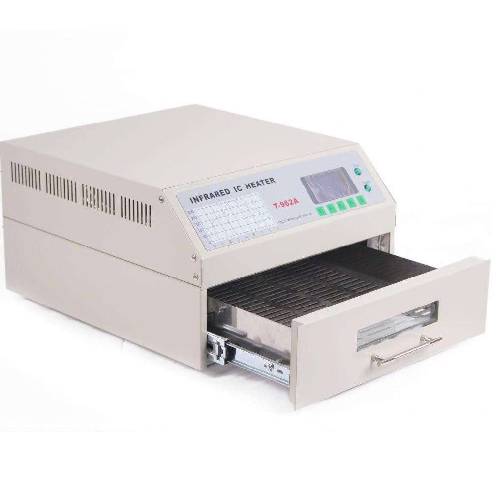 220 فولت 1500 واط درج صغير نوع لحام بإعادة الدفق آلة ، الأشعة تحت الحمراء إنحسر الفرن ، LED آلة لحام