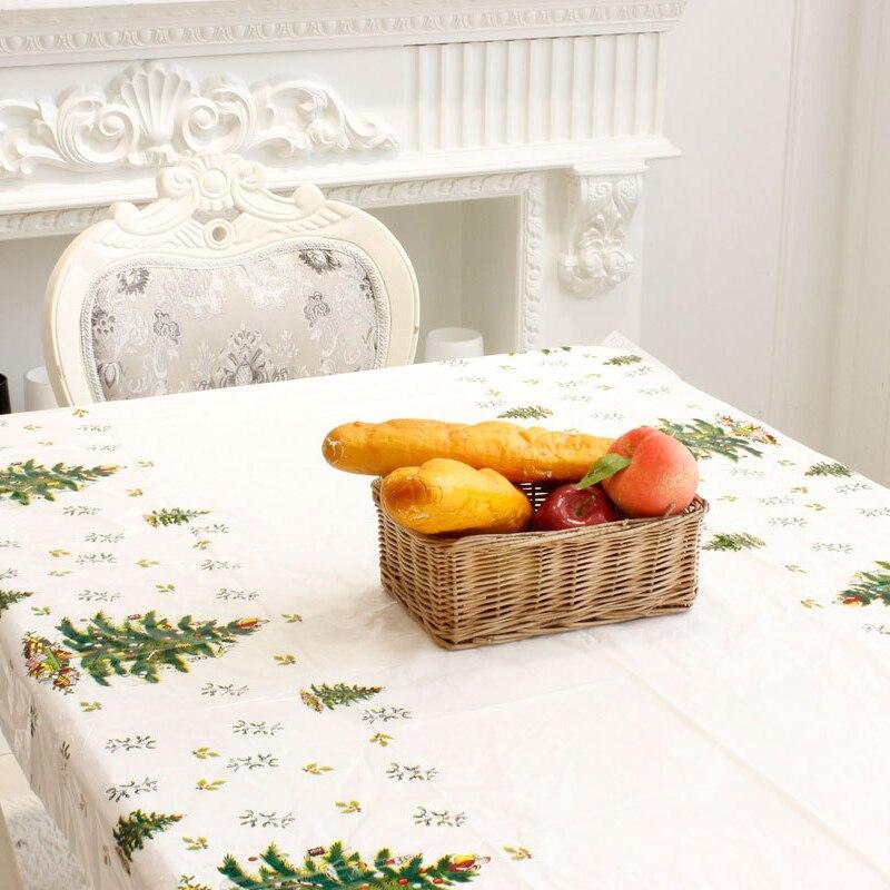 Mantel de mesa de PVC de 110*180cm para el mantel rectangular de la boda de la historieta impresa del mantel de Feliz Navidad