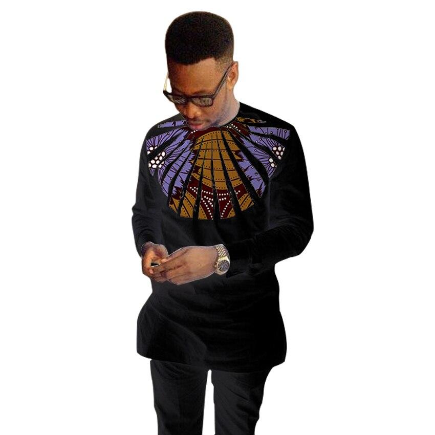 Wunderschöne design männer dashiki hemd Ankara tops mode wachs patchwork schwarz t-shirt Afrikanische kleidung angepasst