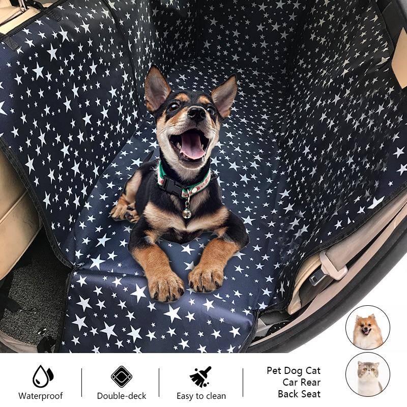 Non-Slip Pet Dog Cat Seat Waterproof Pet Dog Car Seat Cover Pet Hammock Cushion  Cover Back Seat