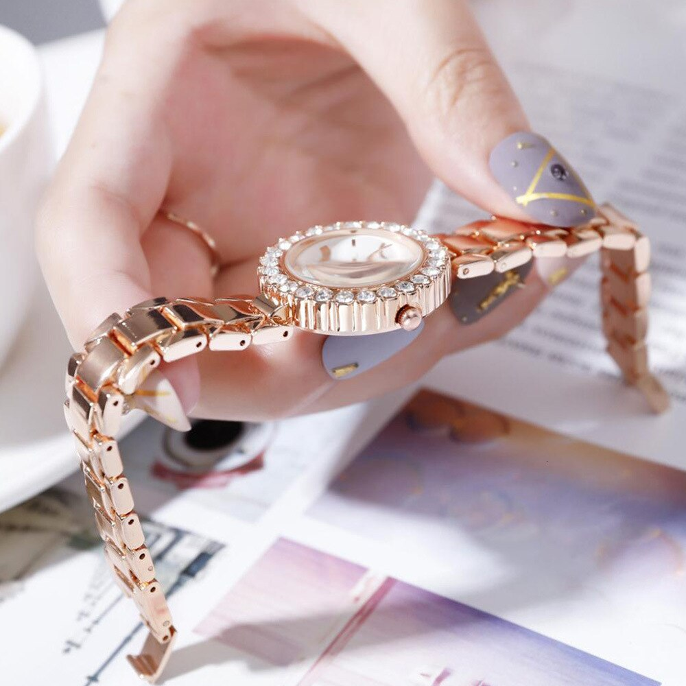 Diamond Watch Ladies With Bracelet Luxury Jewelry Set 2pcs Womens Watches Top Brand Quartz Watch Women 2019 Casual Dress Gift enlarge