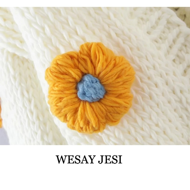 WESAY JESI Hand Made Cardigan TRAF ZA Fashion For Women Sweater Jacket Knitted Printed Chic Top Long Sleeve New Women's Coat enlarge