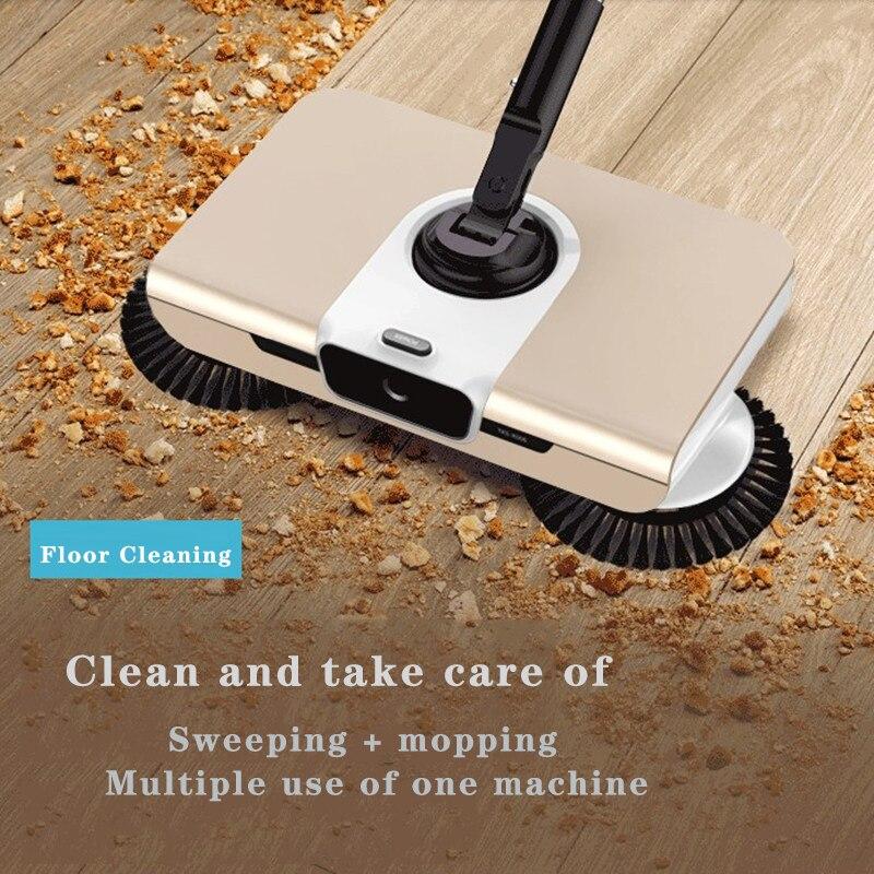 مسح الكلمة غير الكهربائية المحمولة باليد من منزل تأجير آلة التنظيف الجاف والرطب والضوء والرقيق التلقائي مكنسة
