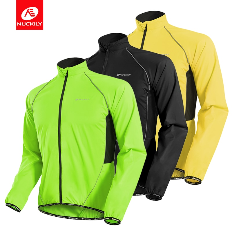 NUCKILY Men Cycling Jacket Windbreaker Waterproof Windproof Bike Jersey MTB Bicycle Riding Running Men's Jacket Coat Clothing