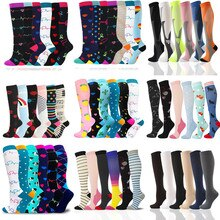 Compression Stockings Fit For Varicose Veins Nylon Heart Shape Funny Socks Men Women Outdoor Fitness