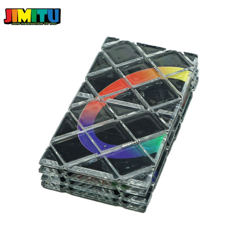Cubo puzle Lingao 8 paneles rompecabezas mágico plegable cubos Twisty Cubo mágico profesional Cubo mágico juguetes clásicos