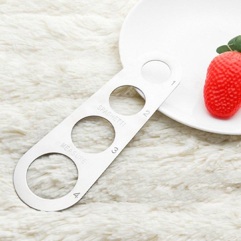 100 قطعة سهلة المقاصة المعكرونة حاكم قياس أداة 4 تخدم جزء الفولاذ المقاوم للصدأ السباغيتي كيال الطبخ لوازم