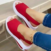 Women Sandals 2021 Heels Sandals Peep Top Summer Shoes Women Platform Sandals Soft Wedges Shoes Sand
